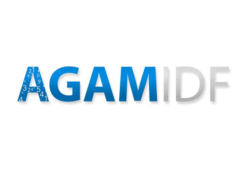 Création du logo du cabinet AGAM, expertise comptable