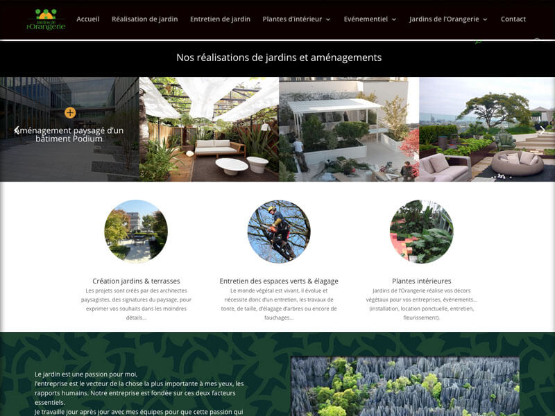 Création du site Jardins de l'Orangerie