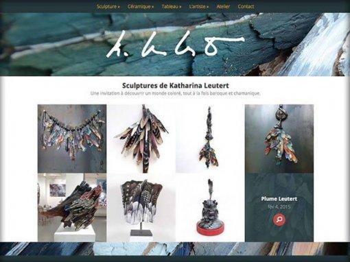 Création d'un site pour l'artiste Katharina Leutert