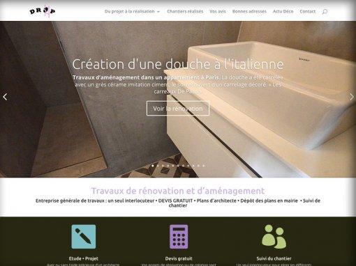 Création et référencement du site Drop